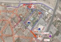 Mapa del corte de tráfico