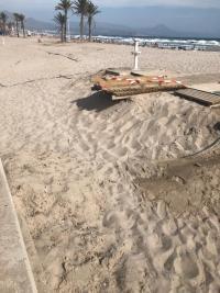 Trabajos de adecuación y servicio en la Playa de San Juan