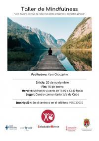 TALLER DE MINDFULNESS, ISLA DE CUBA 2019 -2020