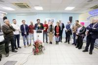 El alcalde, Luis Barcala, junto a varios miembros de la corporación municipal