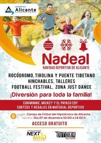 Cartel de la Navidad Deportiva de Alicante, una jornada para la participación infantil