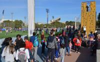 Algunos de los participantes de Nadeal, hoy, en los campos del antiguo Hipódromo