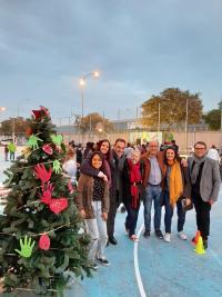 El edil de Coordinación de Proyectos, Antonio peral, en la fiesta de Navidad que se organiza en el barrio del Cementerio