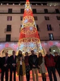Encendido árbol de Navidad