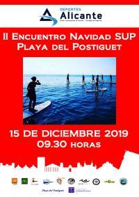Encuentro Navidad SUP Playa del Postiguet 2019
