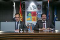 El alcalde de Alicante, Luis Barcala, y el concejal de Coordinación de proyectos, Antonio Peral, anunciando la próxima puesta en marcha de la Agenda Alicante 2030