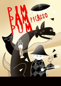 "Imagen del cartel del taller ""Pim Pam Pum Picasso"""