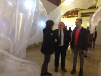 El concejal de Cultura, Antonio Manresa, en la exposición