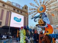 Hoguera en la Plaza de Callao (Madrid)