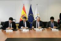 Luis Barcala, alcalde de Alicante junto a Ximo Puig, el presidente de la Diputación, Carlos Mazón y el presidente de la EUIPO, Christian Archambeau