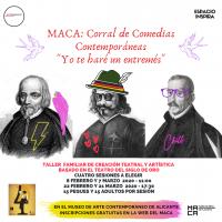 "Cartel de MACA: Corral de Comedias Contemporáneas ""Yo te haré un entremés"""