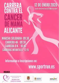 Cartel de la Carrera contra el cáncer de mama