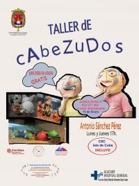 "Taller de Cabezudos en el Centro Social Comunitario ""Isla de Cuba""."