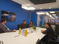 Visita Luis Barcala oficinas ROI UP