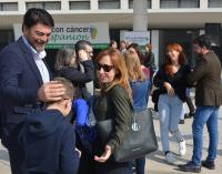 El alcalde ha participado en los actos del Día internacional del niño con cáncer