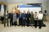 El alcalde de Alicante, Luis Barcala, junto a la vicealcaldesa, Mari Carmen Sánchez, en el Salón Azul
