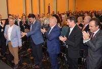 El alcalde, con Crivillés, junto al diputado de Fomento y los concejales José Luis Berenguer y Toño Peral