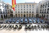 Imagen de la flota de nuevos vehículos de la Policía Local