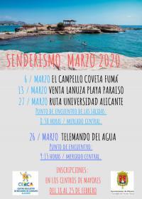 Salidas senderistas marzo 2020