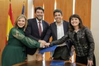El alcalde, Luis Barcala, junto con la vicealcaldesa Mª Carmen Sánchez y el presidente de la Diputación Provincial, Carlos Mazón y la vicepresi...