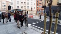 Los concejales de Coordinación de Proyectos y Urbanismo, Antonio Peral y Adrián Santos, en la visita a las obras finalizadas en Poeta Zorrilla