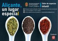 Cartel del Taller Infantil 'Alicante, un lugar especial'