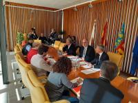 Parte de la corporación municipal reunida en la Comisión no permanente de Limpieza y Residuos