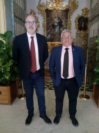 Manuel Villar y Antonio Manresa como Concejales Síndicos en la Romería a Santa Faz
