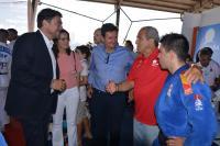 El alcalde, Isabel Fernández, el concejal de Deportes, el presidente de la Real Federación de Judo y un deportista, en un pasado encuentro en Alicante