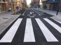 Una de las calles reurbanizadas en las que se ha mejorado los accesos peatonales