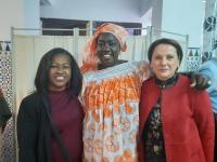 La concejala de Inmigración, María Conejero, en la inauguración del local de la Asociación Mujeres Senegalesas