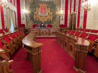 El alcalde de Alicante, Luis Barcala, en el primer pleno telemático de la historia de la ciudad