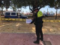 La Policía Local refuerza con carteles los cierres de los parques públicos, juegos infantiles y aparatos biosaludables de Alicante