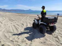 Policía Local en la Playa de San Juan