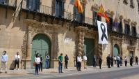 Los concejales de la Corporación alicantina, en el acto de homenaje
