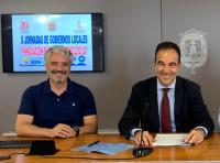 El concejal Antonio Peral y el jefe de servicio de Nuevas Tecnología, Javier Morales, en una pasada comparecencia