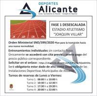Apertura Estadio de Atletismo 'Joaquín Villar'