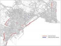 Mapa de las peatonalizaciones