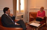 El alcalde de Alicante, Luis Barcala, junto a la consellera de Sanidad, Ana Barceló