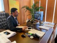 El alcalde de Alicante, Luis Barcala, en la sesión telemática del pleno extraordinario