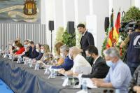 El alcalde de Alicante, Luis Barcala, en la comisión para la Recuperación de Alicante