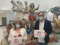 Los concejales de Acción Social y Fiestas, Julia Llopis y Manolo Jiménez
