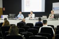 El concejal socialista, Francesc Sanguino y el concejal de Seguridad, José Ramón González