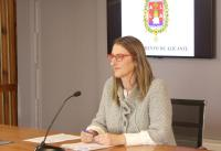 Marica Carmen de España en rueda de prensa