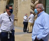 Concejal de Infraestructuras, José Ramón González y de Deportes, José Luis Berenguer