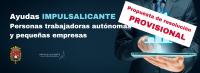 Resolución provisional ayudas autónomos y pequeñas empresas