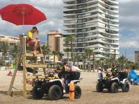 Policía Local patrullando en la Playa de San Juan
