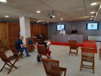 Manuel Villar y Antonio Manresa durante la rueda de prensa de la Junta de Gobierno