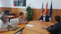 Encuentro de la concejala María Conejero con el rector Manuel Palomar