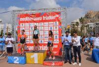 El alcalde y el concejal de Deportes, en la entrega de trofeos de la pasada edición del campeonato de Triatlón
